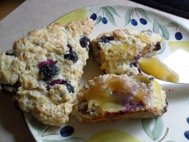 Fresh Blueberry Lemon Scones
