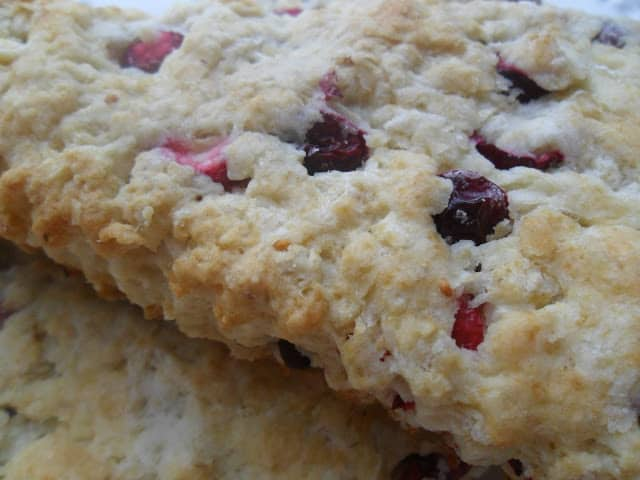 Cranberry Oatmeal Sourdough Scones