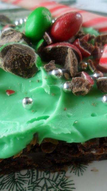 Cool Chocolate Mint Brownies