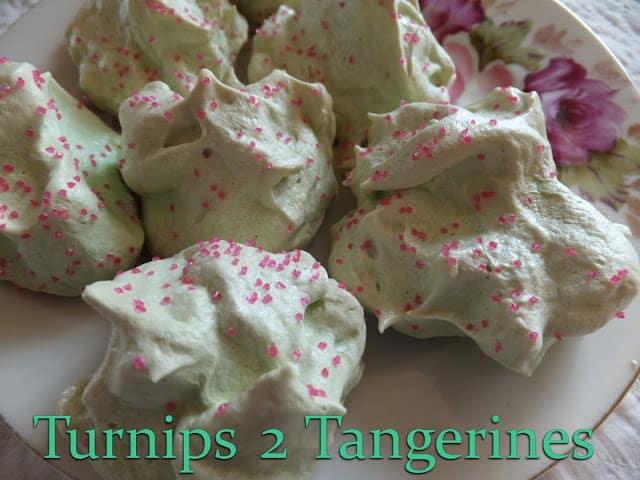 Mint Meringue Cookies