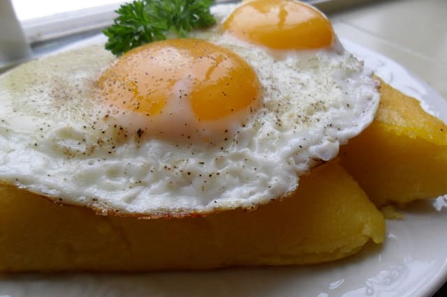 Grilled Polenta and Eggs