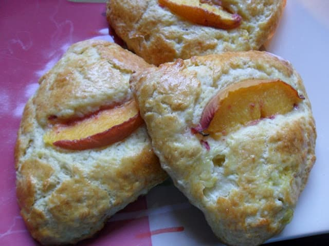 Buttermilk Peach Scones