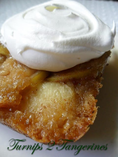 Apple Kuchen with Cream Cheese Topping