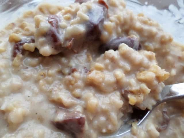 Eggnog Cherry Steel Cut Oatmeal