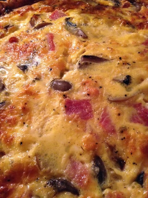 Ham, Mushroom and Cheese Quiche