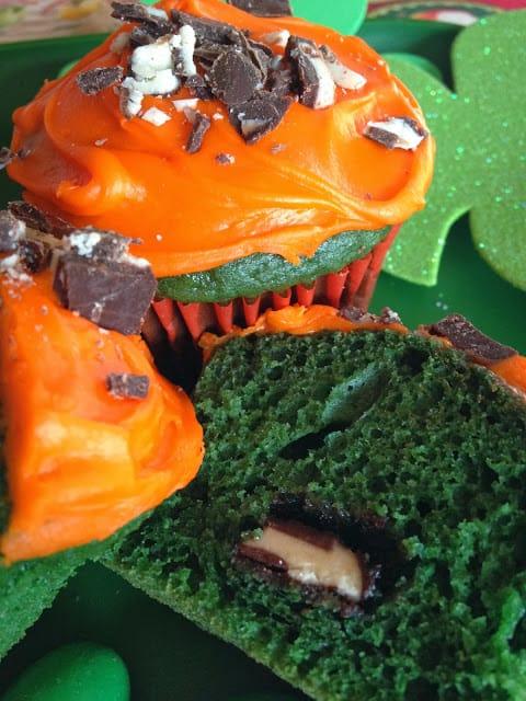 Green Velvet Mint Cupcakes