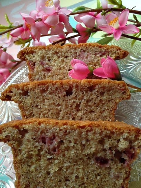 Strawberry Bread with Pink Glaze