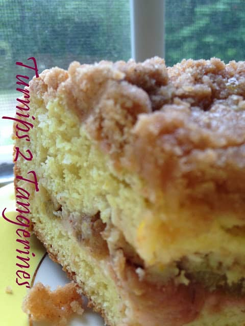 Rhubarb Orange Coffee Cake