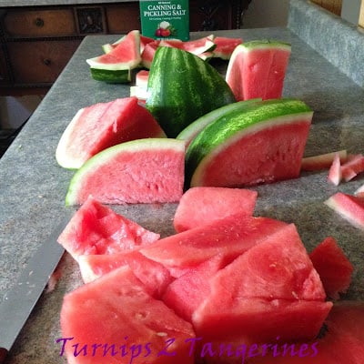 Watermelon Rind Pickles