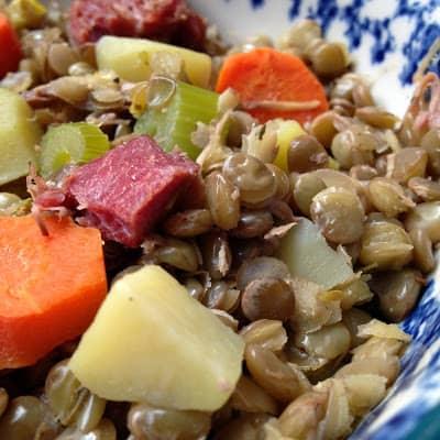 lentils and ham