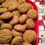 Pfeffernüesse Cookies with Spiced Powdered Sugar