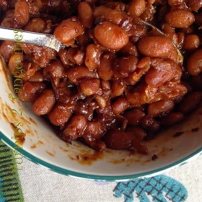 apple cider baked beans