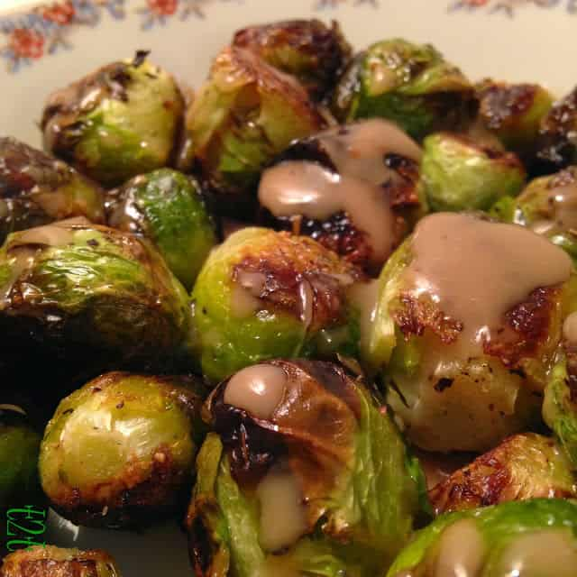 Honey Dijon Balsamic Brussels Sprouts