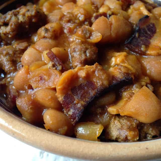 hearty bean bake