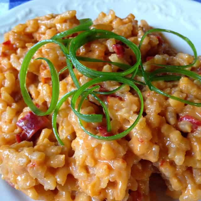Red Bell Pepper Risotto