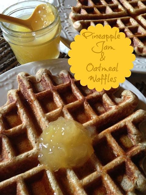 Pineapple Jam and Oatmeal Waffles