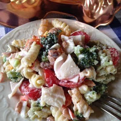 seafood pasta salad