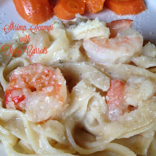 Shrimp Scampi with Lemon-pepper Fettuccine