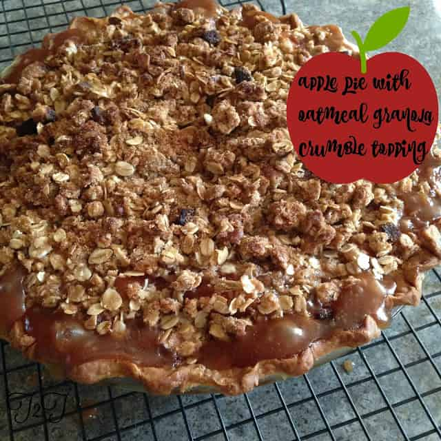 Apple Pie with Oatmeal Granola Crumble