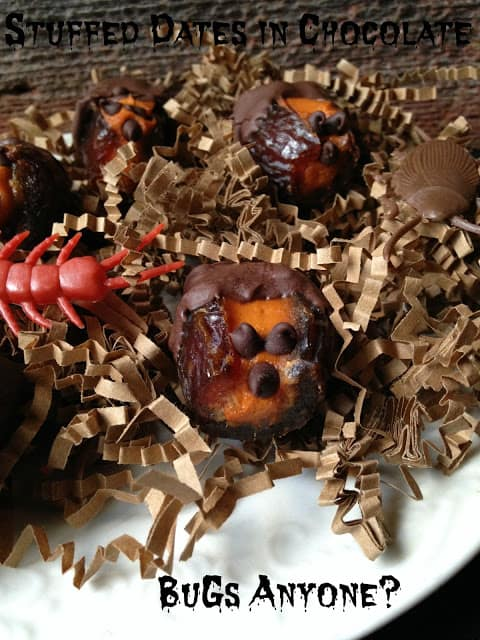 Chocolate Covered Stuffed Dates