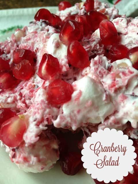 Cranberry Salad and How to Seed a Pomegranate