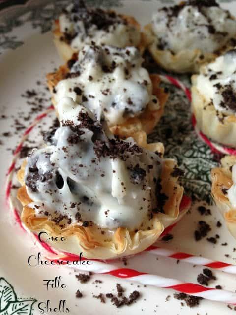 Oreo Cheesecake Fillo Shells
