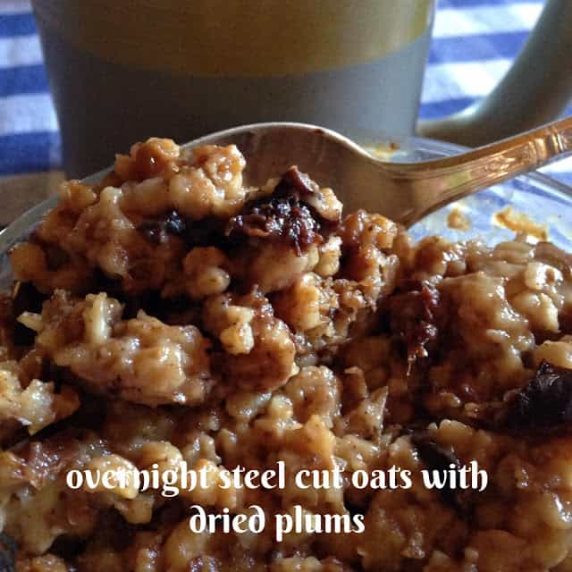 Steel Cut Oats with Dried Plums
