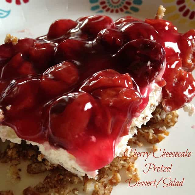 Cherry Cheesecake Pretzel Dessert