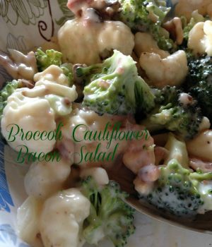 broccoli, cauliflower