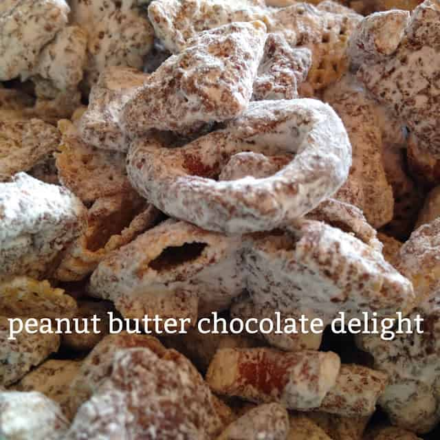 Peanut Butter Chocolate Delight Snack Mix