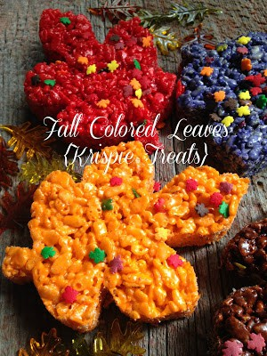 Fall Colored Krispie Leaves