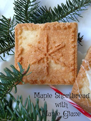 Maple Shortbread with Maple Glaze