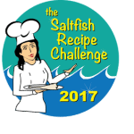 Saltfish {Cod} Puffs with Wasabi Dip