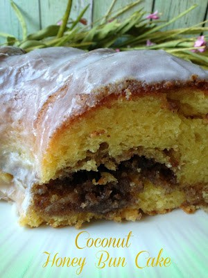 Coconut Honey Bun Cake