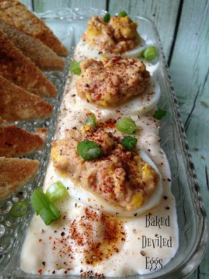 Baked Deviled Eggs With Toast Points Turnips 2 Tangerines