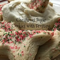 Sugar Cookies with Marshmallow Fluff Frosting