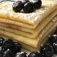 Swedish Pancakes with Fresh Fruit