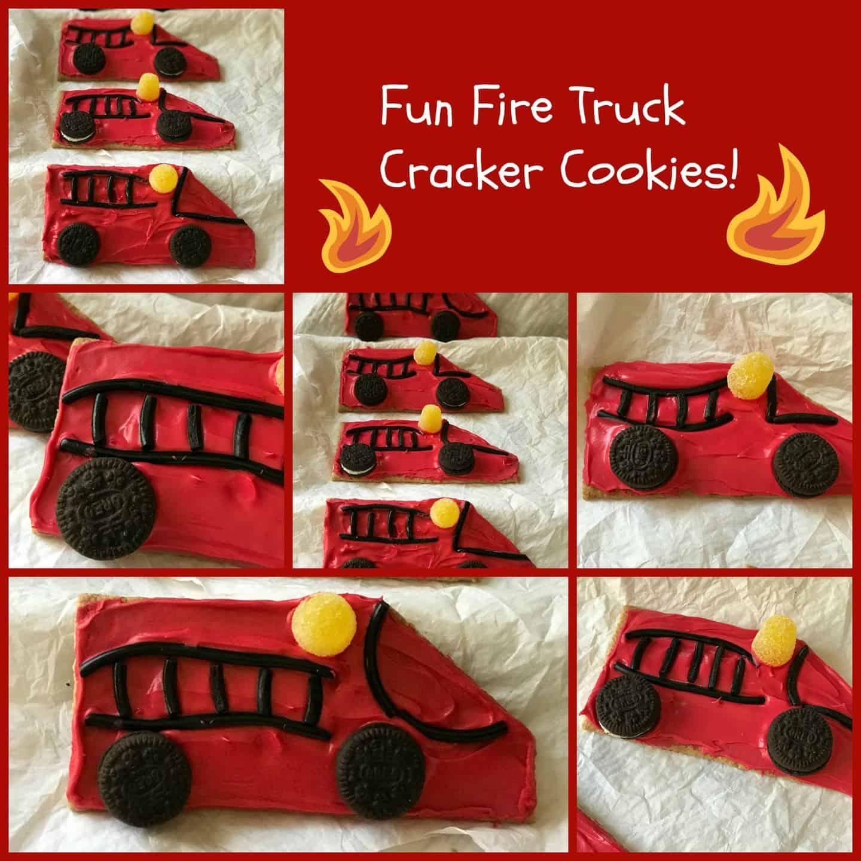 Fun Fire Truck Cracker Cookies