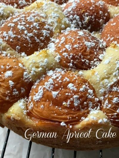 German Apricot Cake Aprikosenkuchen