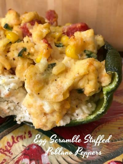 Egg Scramble Stuffed Poblano Peppers