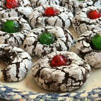 Chocolate Crinkle Cookies Holiday Style