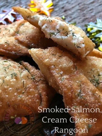 Smoked Salmon Cream Cheese Rangoon