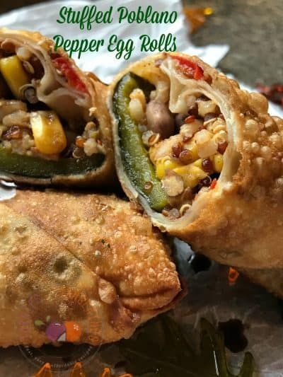 Stuffed Poblano Pepper Egg Rolls