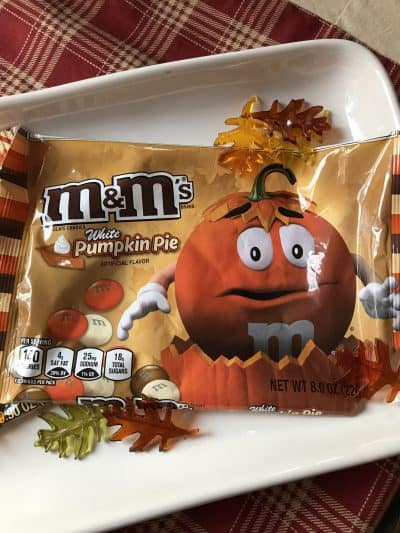 pumpkin pie m & m candy