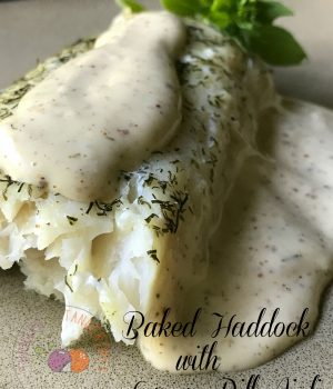 baked haddock with
