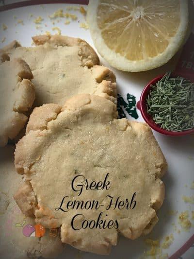Greek Lemon-Herb Cookies