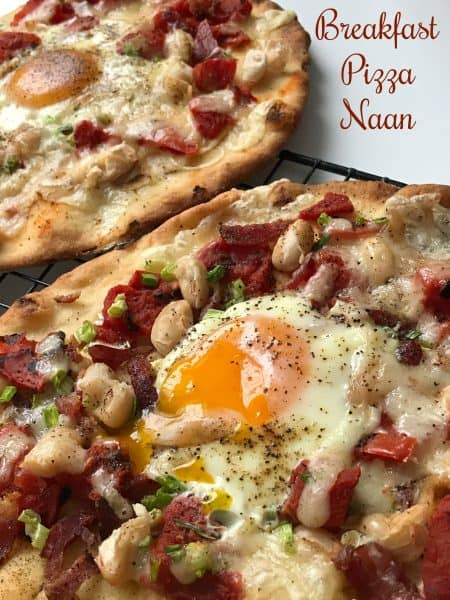 Breakfast Pizza Naan and Tandoor Oven
