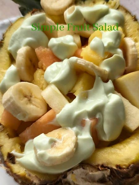 Simple Fruit Salad in Fresh Pineapple