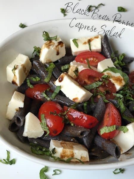 Black Bean Penne Caprese Salad