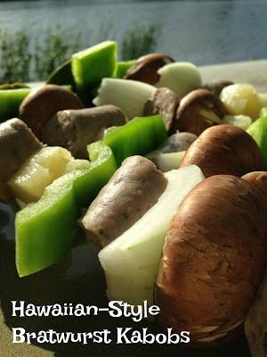 Hawaiian BBQ Bratwurst Kabobs
